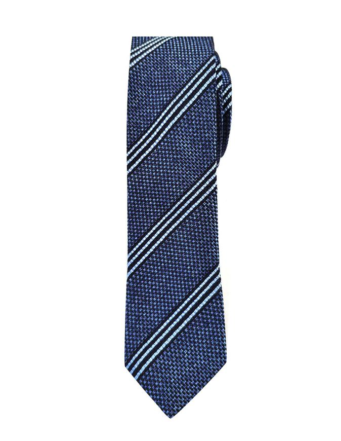 Picture of Hemley German Made Stripe Skinny Cotton Silk Tie