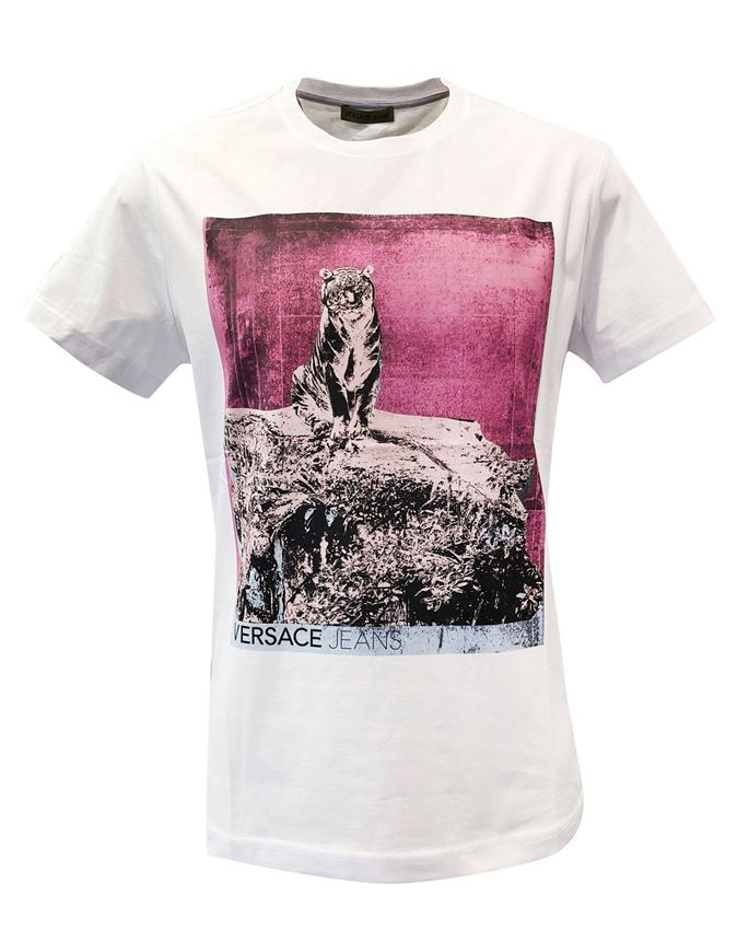 Picture of Versace Jeans Mars Tiger Print Tee