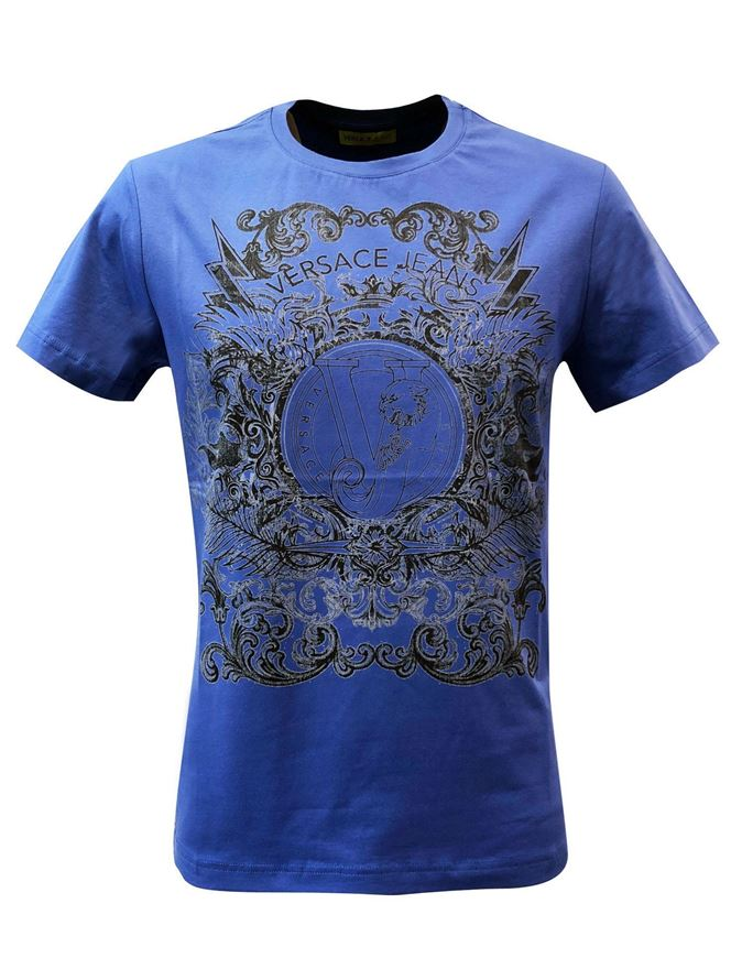 Picture of Versace Jeans Callisto Washed VJ Print Tee