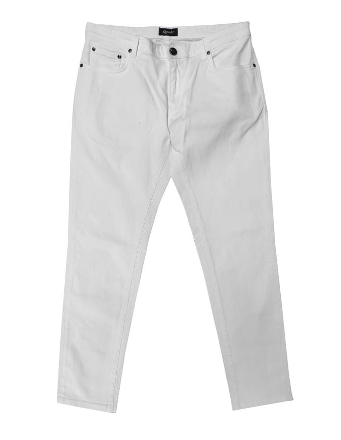 Picture of Reporter White Cotton Stretch Pants