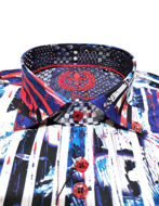 Picture of Au Noir Riu Multi Pattern Shirt
