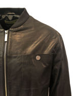 Picture of Versace Jeans Goat Skin Leather Jacket