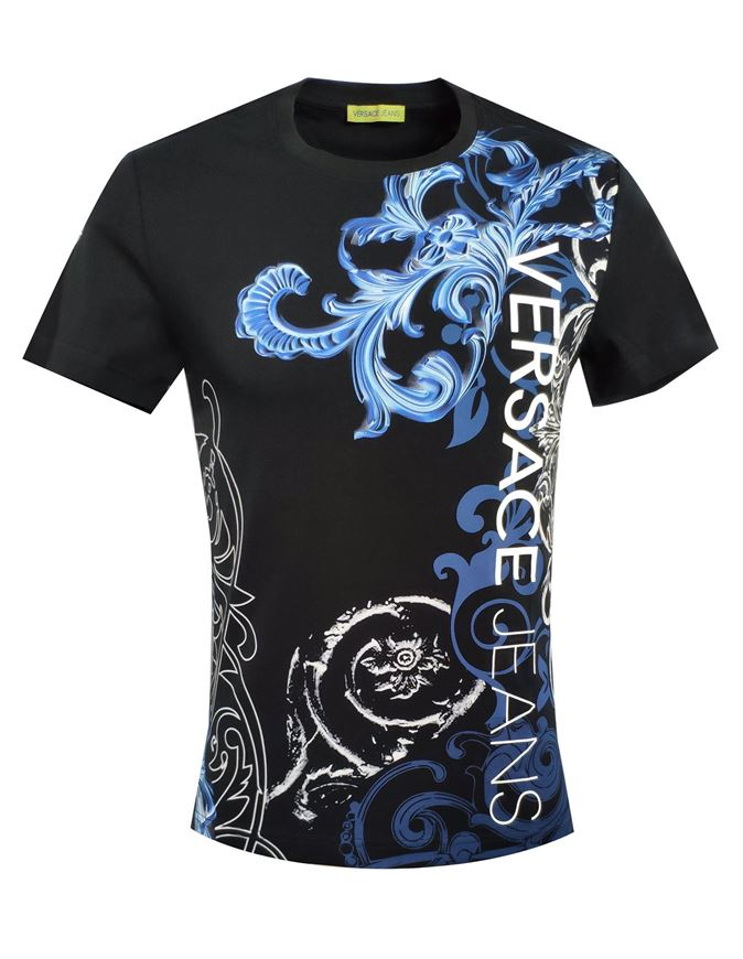 Picture of Versace Jeans Baroque Tee in Blue