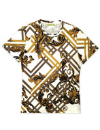 Picture of Versace Jeans Baroque Tee on White