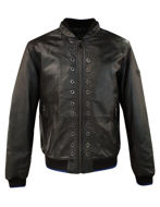 Picture of Versace Jeans Studded Leather Jacket
