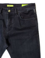 Picture of Versace Jeans Velvet Washed Denim in Navy