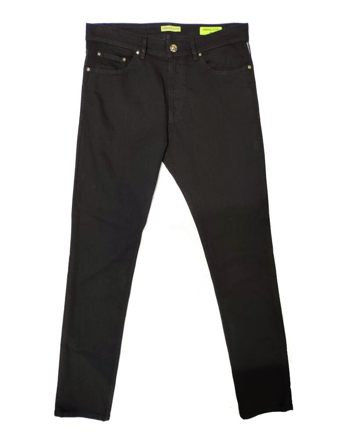 Picture of Versace Jeans Black Denim with Stud Details