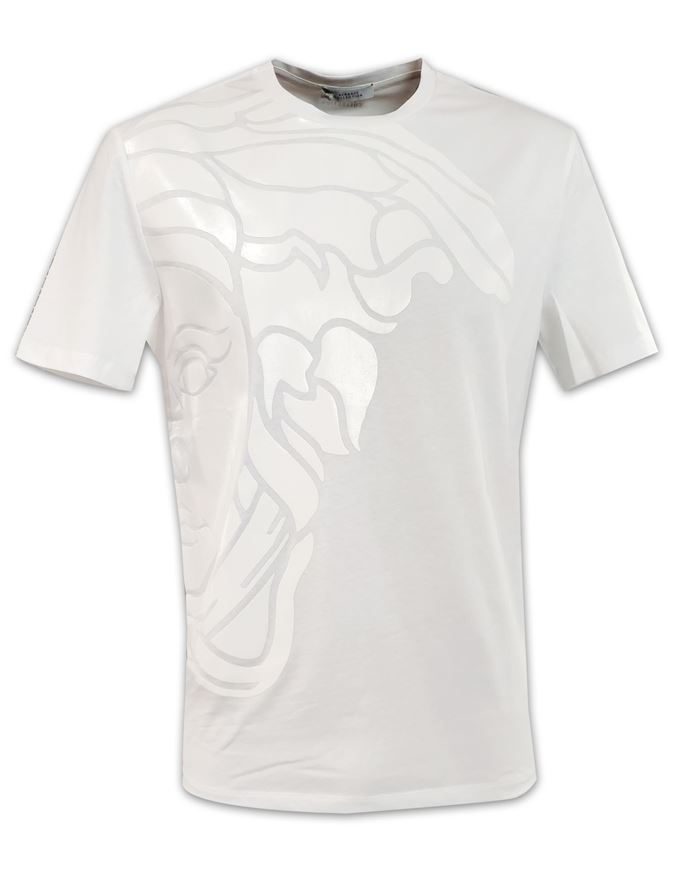 Picture of Versace Embossed Medusa White T shirt