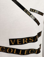 Picture of Versace Black Gold Logo Tape Tshirt