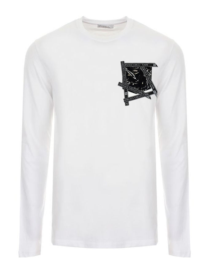 Picture of Versace Logo Tape Patch L/S Tee