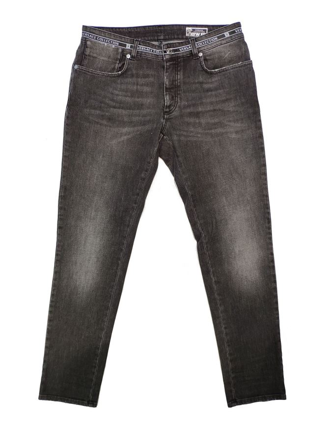 Picture of Versace Collection Logo Tape Washed Jean