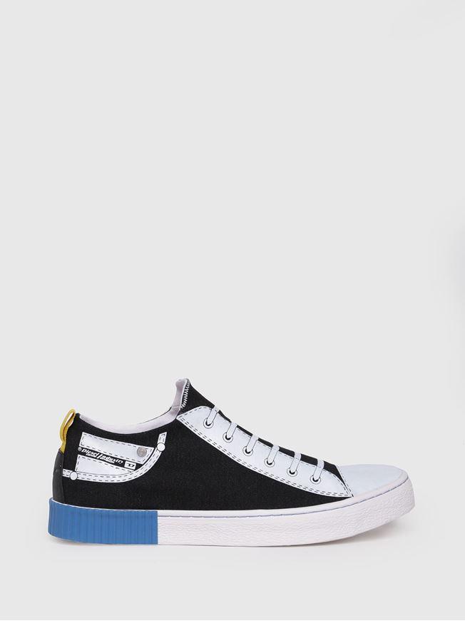 Picture of Diesel Black Slip-on Sock Sneakers