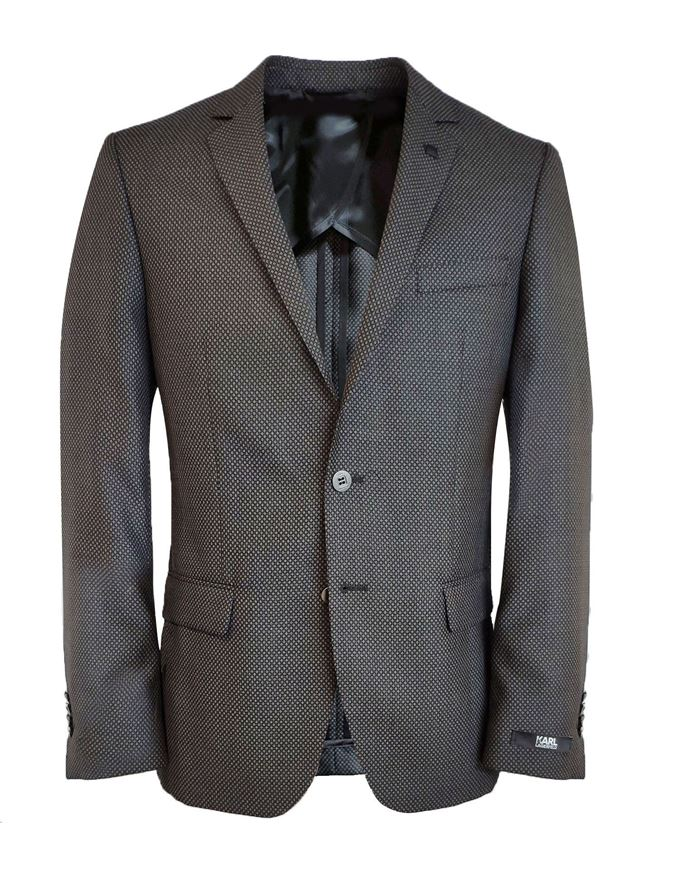 Picture of Karl Lagerfeld Grey Birdseye Jacket