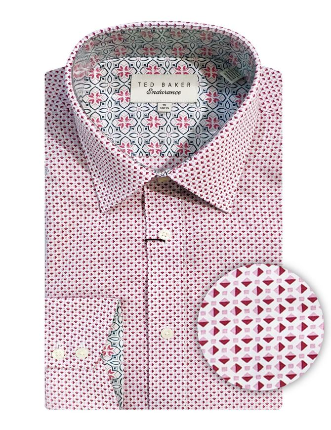 Picture of Ted Baker Pink Diamond Print Shirt