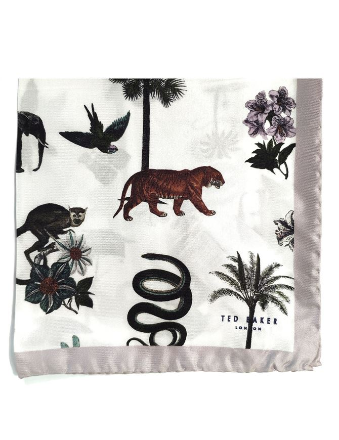 Picture of Ted Baker Animal Pocket Square