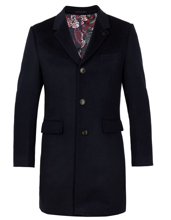 Picture of Ted Baker Cashmere Black Overcoat
