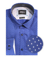 Picture of Brooksfield Flower Text Luxe Shirt