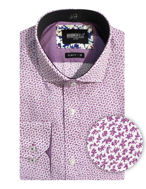 Picture of Brooksfield Purple Abstract Luxe Shirt