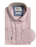 Picture of Brooksfield Pink Text Dobby Shirt