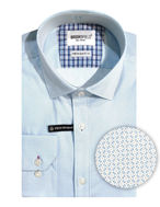 Picture of Brooksfield Blue Geo Stretch Shirt