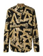 Picture of Versace Jeans Gold Columns Black Shirt