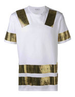 Picture of Versace Greek Tape White T-shirt