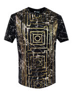 Picture of Versace Marble Print Black T-shirt