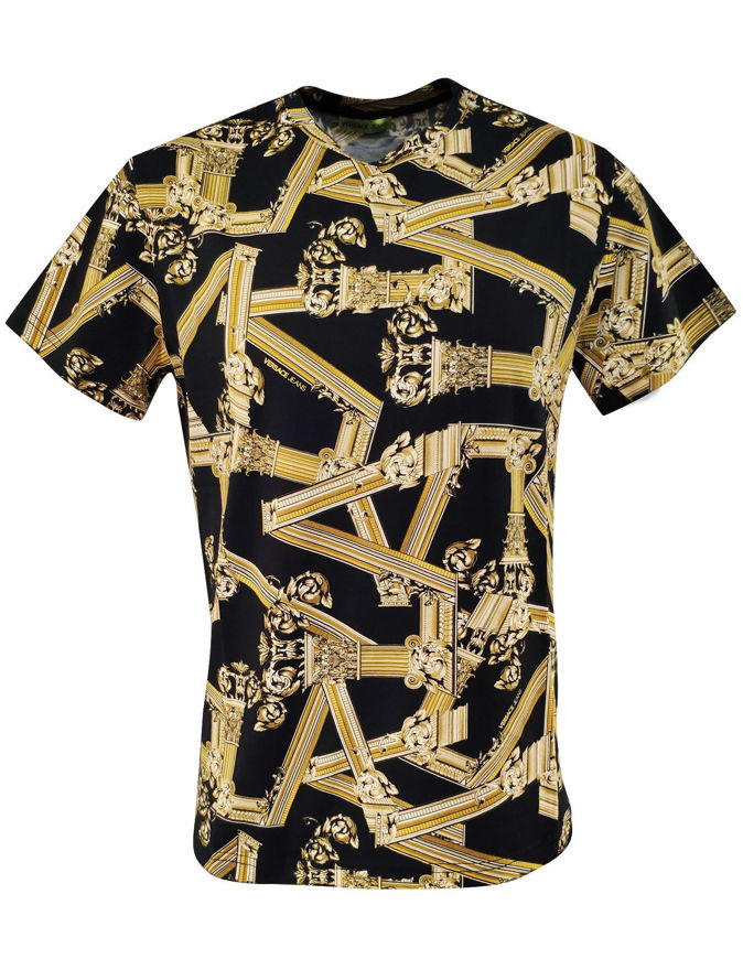 Picture of Versace Jeans Columns Black Tee