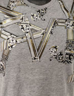 Picture of Versace Jeans Emboss Columns Grey Tee