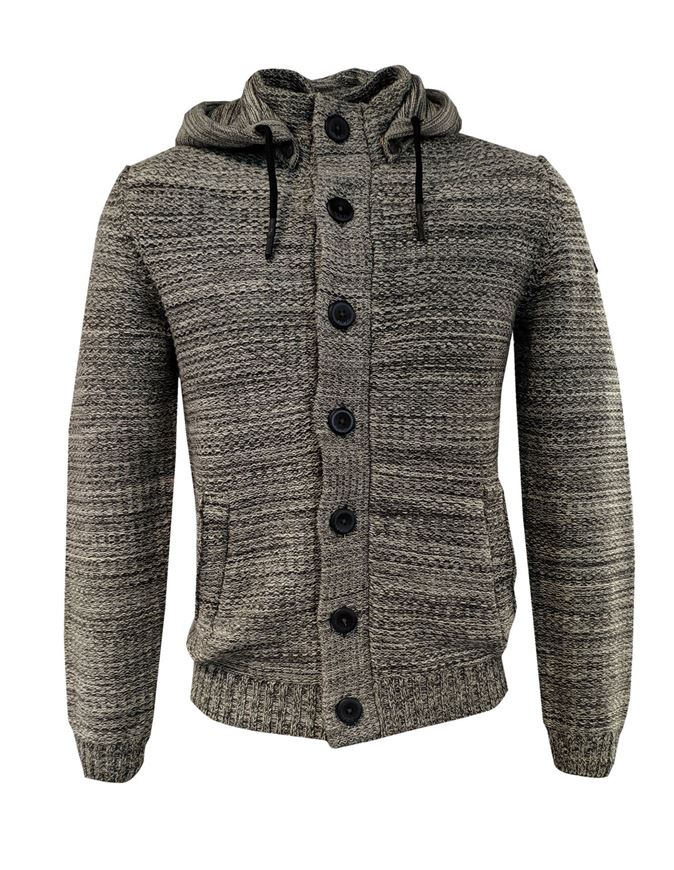 Picture of No Excess Hooded Button Cardigan