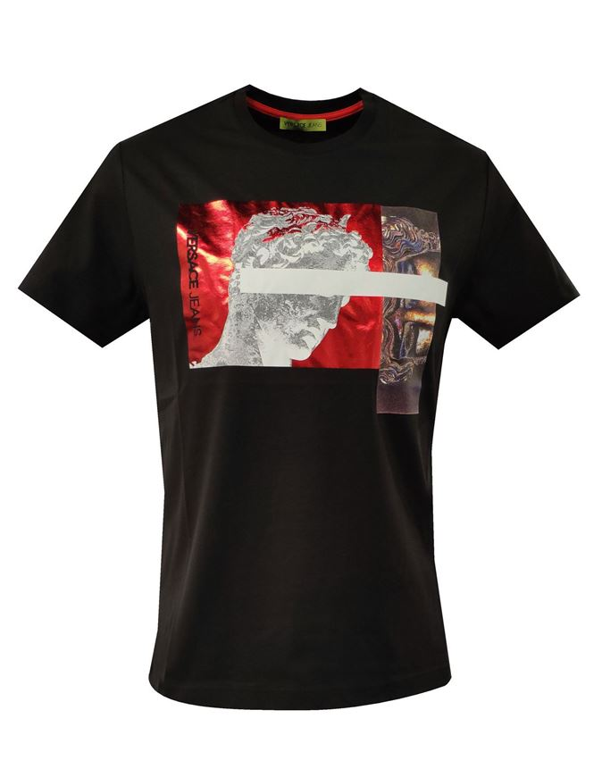 Picture of Versace Jeans Emboss Angel Black T-Shirt