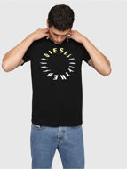 Picture of Diesel Black T-Diego Printed T-shirt