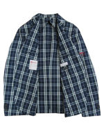Picture of Reporter Navy Check Cotton Jacket