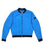 Picture of Karl Lagerfeld Karl Print Blue Bomber Jacket