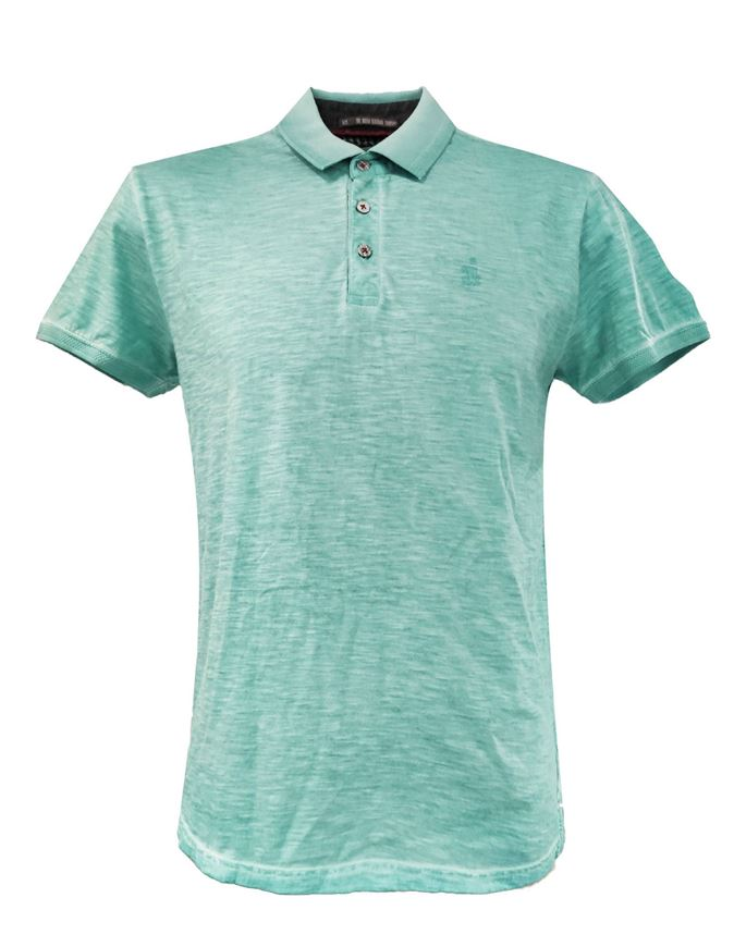 Picture of No Excess Green Cold Dye Polo