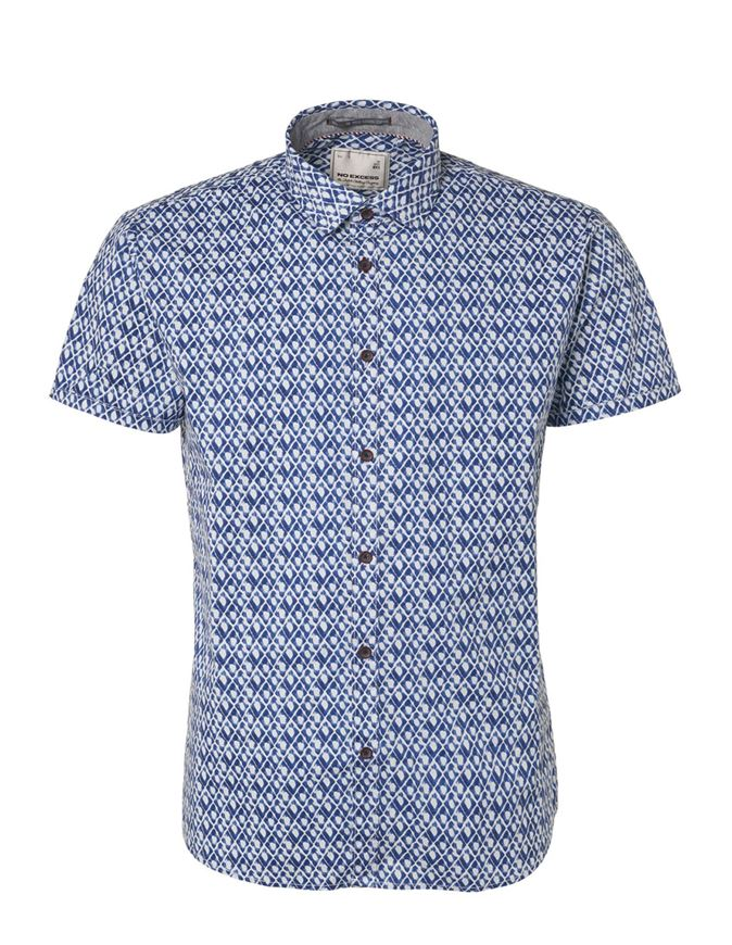 Picture of No Excess Block Print S/S Shirt