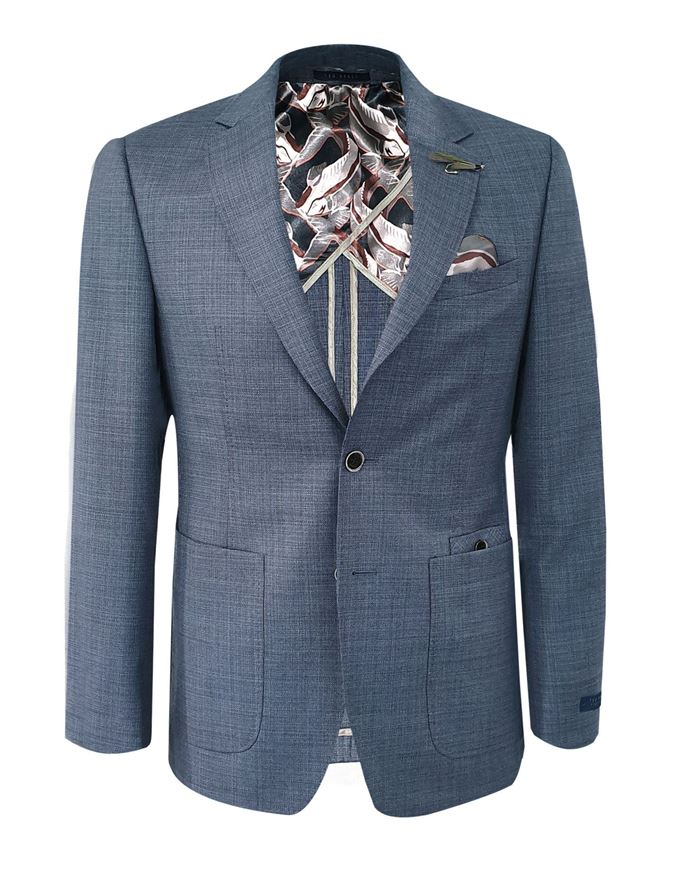 Picture of Ted Baker Blue Tight Line Jacket