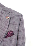 Picture of Ted Baker Lilac Over Check Suit