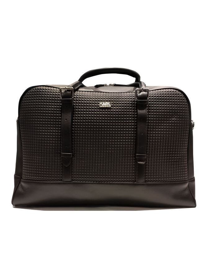 Picture of Karl Lagerfeld Leather Weekender Bag