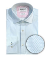 Picture of Brooksfield Light Blue Diamond Print Stretch Shirt