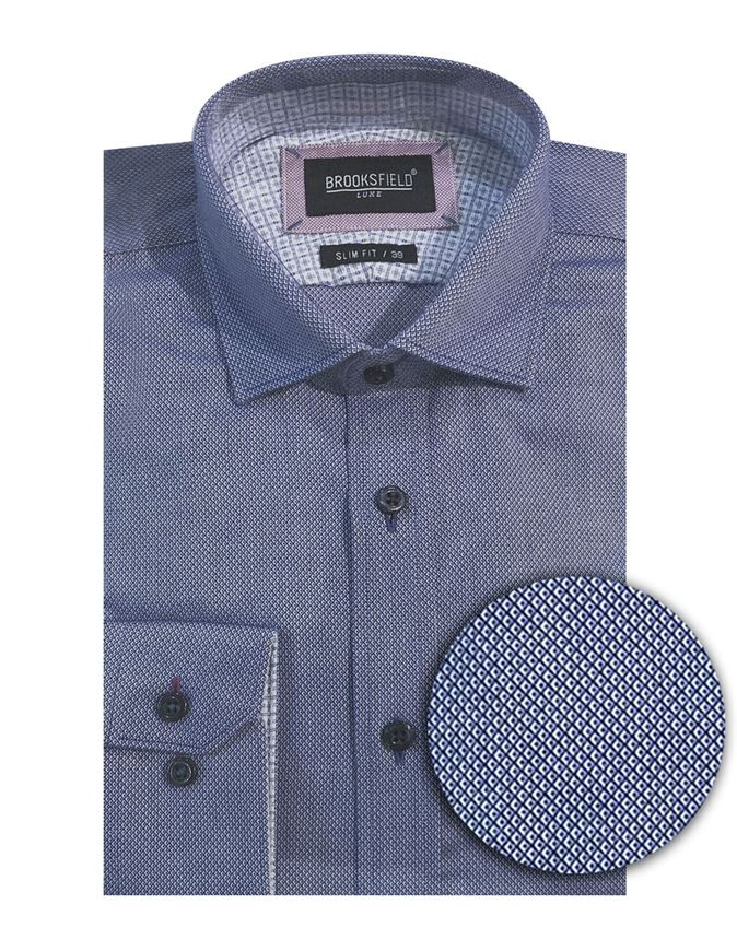 Picture of Brooksfield Geo Dobby Luxe Shirt