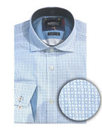 Picture of Brooksfield Blue Geo Motif Luxe Shirt