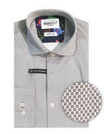 Picture of Brooksfield Motif Pattern Stretch Shirt