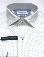Picture of Brooksfield White Diamond Stretch Shirt