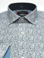 Picture of Brooksfield Teal Paisley Print Luxe Shirt