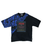 Picture of Versace Jeans Couture Baroque Panelled T-Shirt