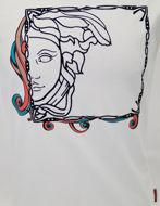 Picture of Versace Fantasy Frame Velvet Medusa White T-shirt