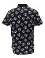 Picture of Versace Black & White Print Polo