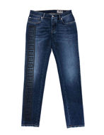 Picture of Versace Greek Tape Embossed Washed Jean