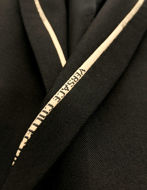 Picture of Versace Yellow Logo Tape Stretch Black Suit